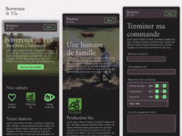 Responsive website - Boveroux Breeding, butchery, delicatessen