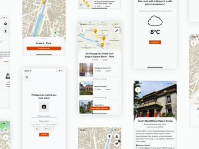 Loopsturn - City guide - iOS app design