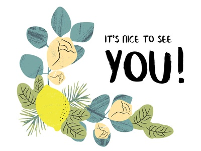Its Nice To See You! seventies natural elements packaging illustration essential oils
