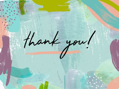 Thank You! fun painting paint abstract illustrator illustration