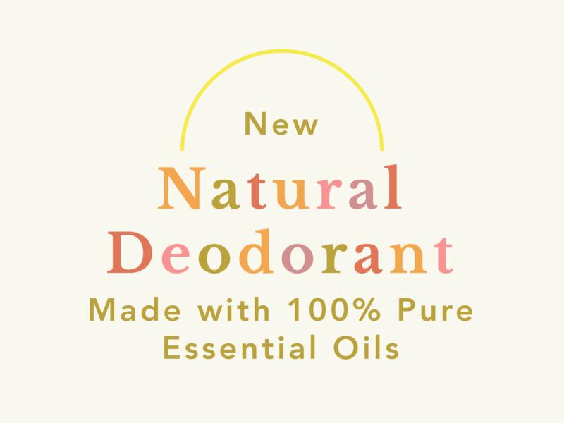 Text Treatment for New Natural Deodorant Launch illustrator vector logo typography design branding