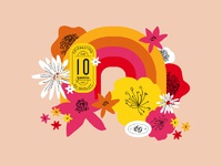 10 year anniversary campaign rainbow