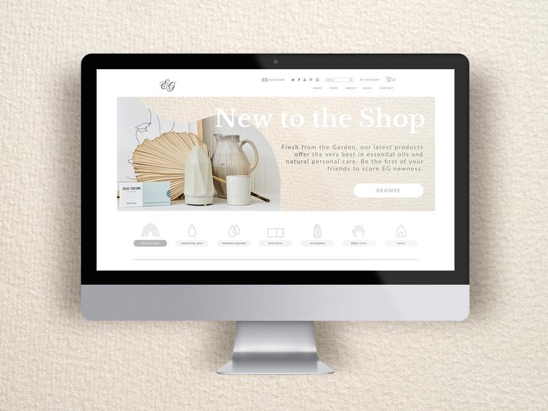 Shop All Webpage website web app branding design essential oils icon ux ui