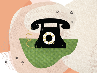 Spot Illustration - Contact Us natural elements texture abstract design vector illustrator illustration