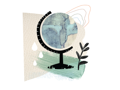 Spot Illustration - Social Responsibility natural elements abstract texture essential oils design vector illustrator illustration