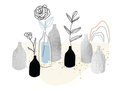 Spot Illustration - Natural Elements brush natural elements abstract texture design essential oils illustrator vector illustration