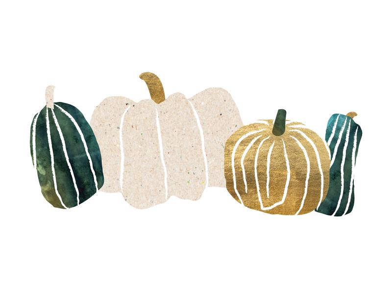 Simple Loose Pumpkins brush texture abstract design vector illustrator illustration