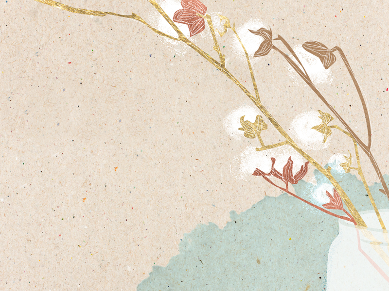 Winter Spot Illo - Cotton plant christmas holiday winter abstract texture design illustrator illustration