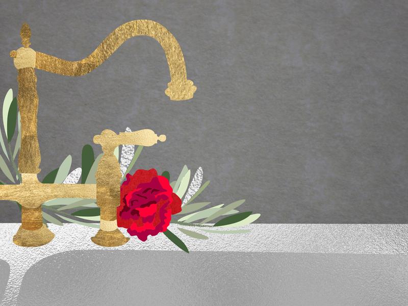Winter Spot Illo - Sink autumn fall winter abstract texture design vector illustrator illustration