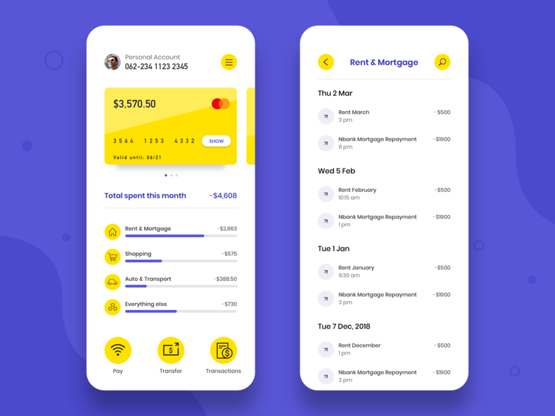 NeoBank App design transactions dashboard app data banking app bank app branding ux ui app