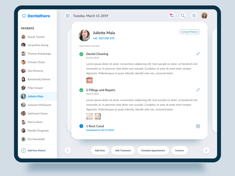 Dental Clinic Manager App product tablet design tablet app ipad ui desgin dental care dental clinic hospital health center health and fitness health care health app client manager dashboard app ux design app app  design dentistry dentist dental