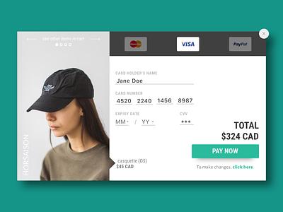 Credit card checkout fashion e-commerce checkout credit card checkout credit card 002 dailyui002 ui daily ui 002 daily ui dailyui