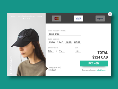 Credit card checkout fashion e-commerce checkout credit card checkout credit card 002 dailyui002 ui daily ui 002 daily ui dailyui