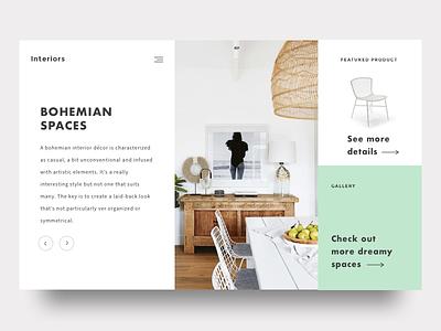 Bohemian Spaces bohemian boho minimal white space whitespace interior design store shop blog