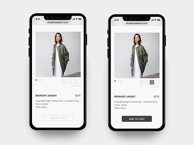 Horsaison - online store e-commerce mobile fashion online store shop shopping
