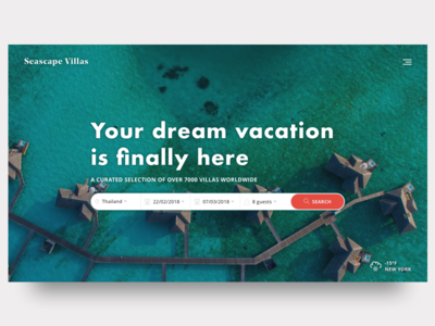 Holiday Villa Rental - Search travel booking vacation luxury travel travel search 022 dailyui022 ui daily ui 022 daily ui dailyui