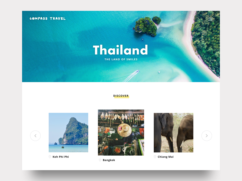 Discover Thailand white space minimal vacation travel thailand discover