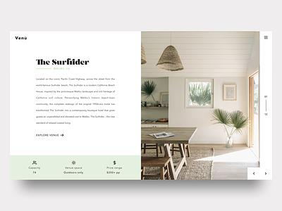 Wedding Venue - Quick View web mint boho interior surf minimal white space