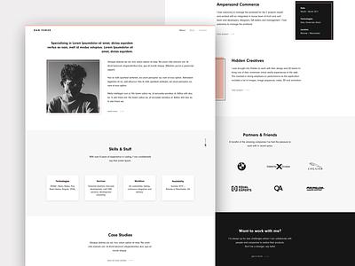 Personal Website about personal portfolio design ui minimalist minimalist design white and black personal brand portfolio