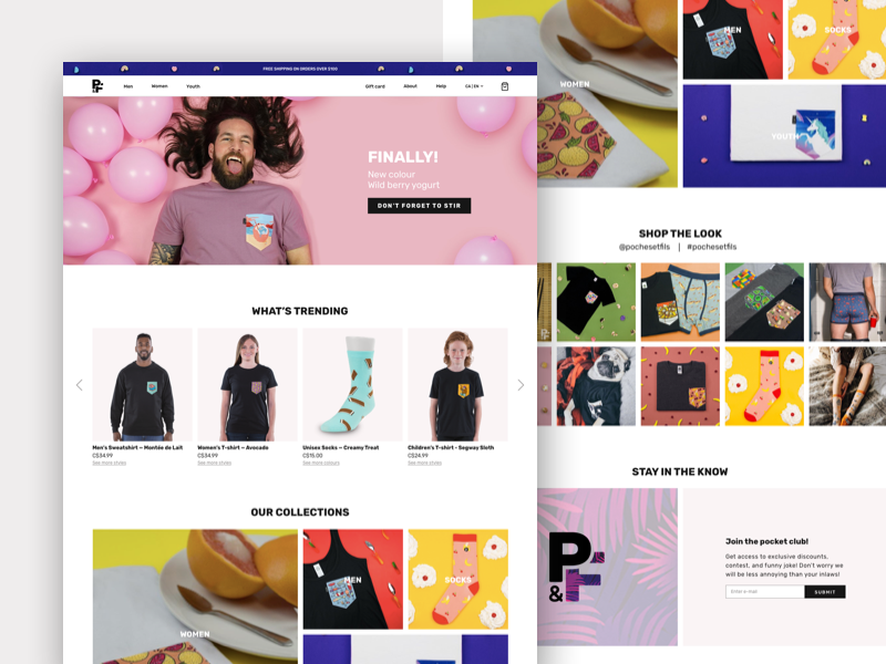 E-commerce - Home Page ui web design ui colorful apparel clothing fashion home page home e commerce