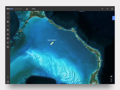 Marine Navigation dark app ux ui product design tool marine product design