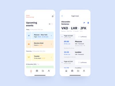 Mobile app for travel agency