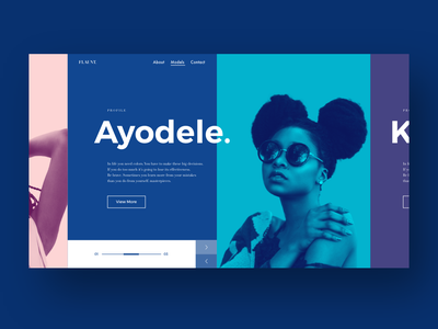 modelling website concept ui duotone grid app monochrome color colour tile ux typography webpage website adobexd adobe xd design page landing web