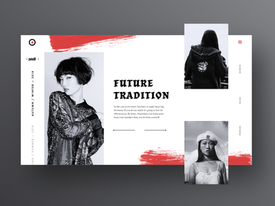 Future Tradition xd website webpage web ux ui typography tile page landing grid duotone design colour color app adobexd adobe
