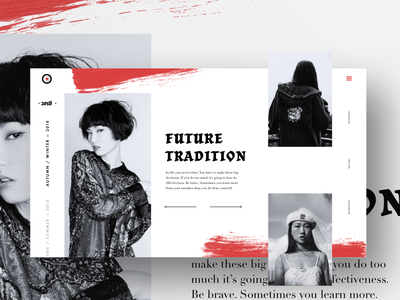 Future Tradition II xd website typography tile webpage landing page grid duotone colour color photoshop adobexd adobe