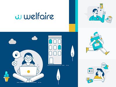Health Insurance Platform Branding Illustrations vector images illustration art illustrator logo brand identity health clinic medicine illustrations branding