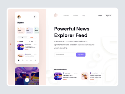 Mobile App Landing Hero Animation clean after effect scroll animation concept scroll motion website design web design web hero section hero banner animation minimalistic dailyui landingpage landing landing page aftereffects home page main page