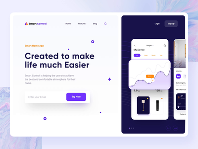 Smart Home App Hero Section Animation smart home smarthome motion wawes web website website design web design landing hero section hero banner animation minimalistic concept dailyui landingpage landing page aftereffects home page mainpage