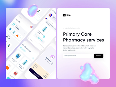 Pharmacy App Landing Page Animation app medicine pharmacy motion web website website design webdesign landing hero section hero banner animation minimalistic concept dailyui landing page landingpage aftereffects homepage main page