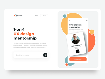 Mentorship Platform Landing Hero Section recruiting app recruitment motion web website website design webdesign landing hero section hero banner animation minimalistic concept dailyui landing page landingpage aftereffects home page main page