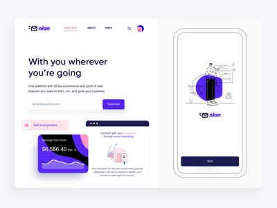 E commerce Platform Landing Page Animation app banking e-commerce app e-commerce web website website design web design landing hero section hero banner animation minimalistic concept dailyui landing page landinpage aftereffects home page main page