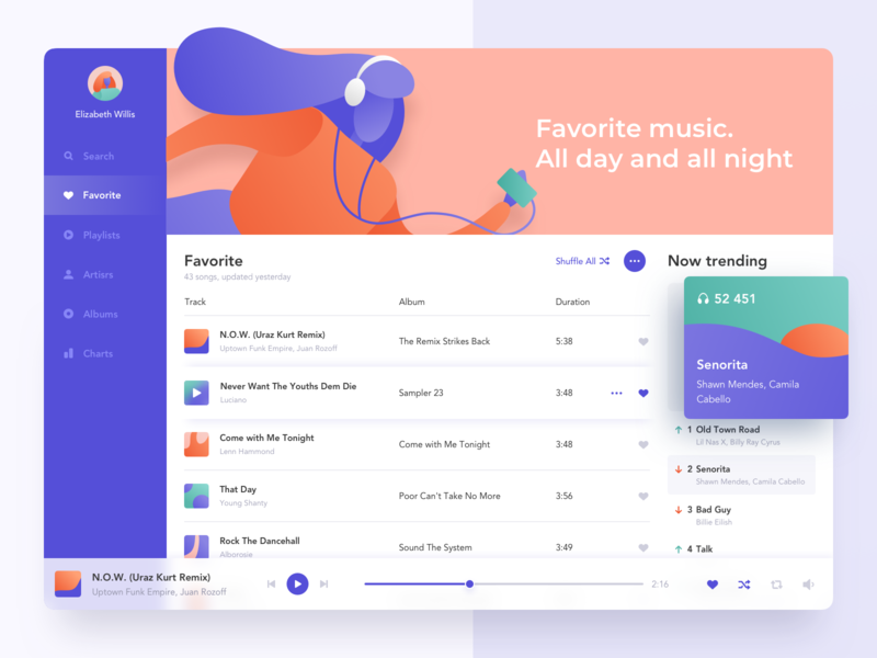 Music Player icons colored app albums palette colors trending purple illustraion ux ui clean player product design dashboard music web design product interface ugem