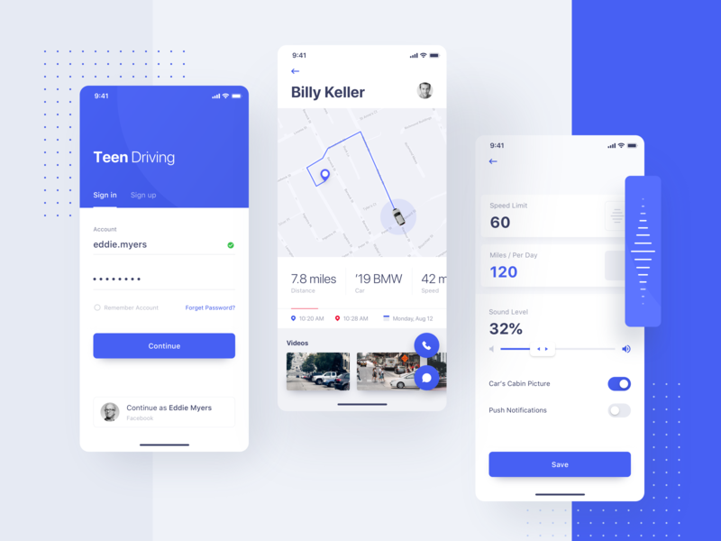 Teen Driving App >> Teen Driving App By Ugem On Dribbble