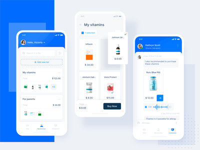 Pharmacy services Mobile mobile ux ui healthcare health medecine product design pharmacy ecommerce vitamins meds clean product ugem minimal design