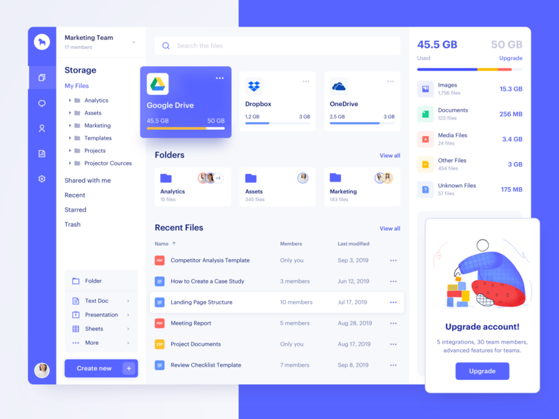 File Manager dashboard ui ux interface ugem product design web design files cloud app app drive storage cloud dropbox file manager
