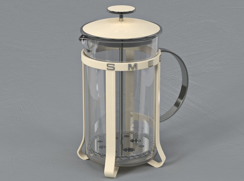 Smeg French Press product design design illustration render visual design 3d art direction creative direction cinema4d