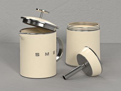 Smeg Percolator render photoshop visual design product design creative direction art direction cinema4d 3d