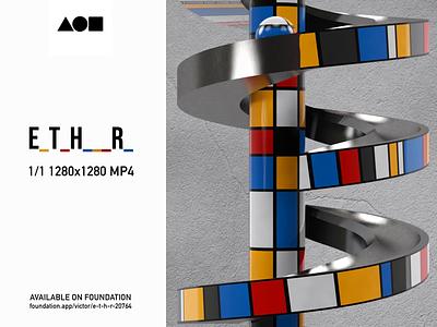 E_T_H___R_ illustration design render visual design motion graphics after effects 3d