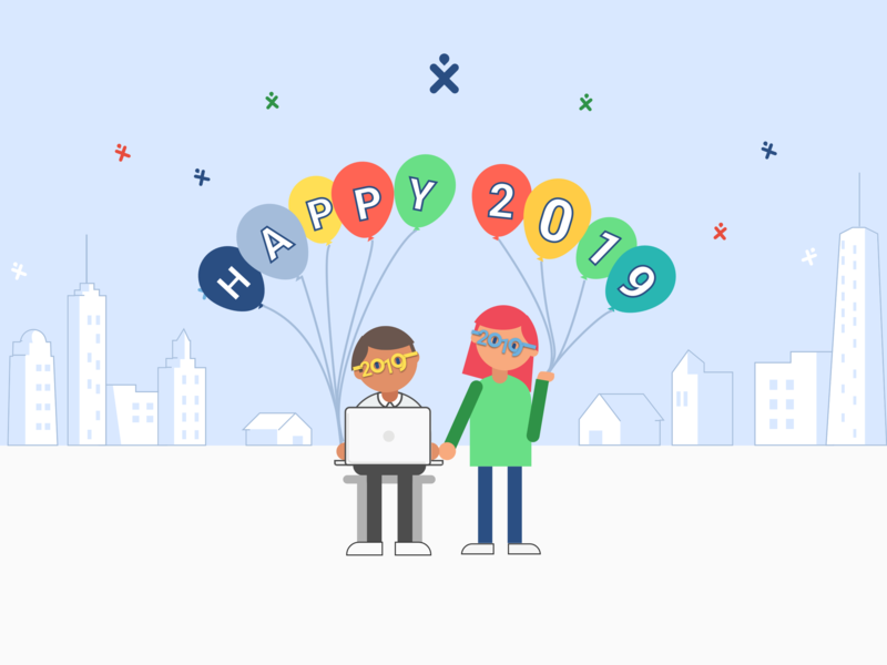 Happy New Year vector illustrator illustration ui vector illustration flat design