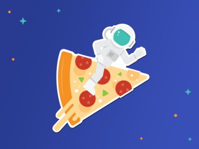 RocketLuncher Stickers II astronaut comet star wars onion pizza food space stickers