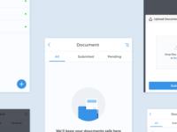 Docments Upload UI Screen