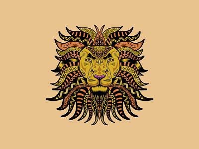 Lion Head Mandala lion head vector mandalaart mandala bigcat lion vectors illustration illustrator