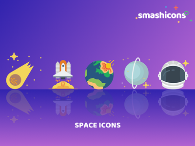 Smashicons - Space Icon Set sets relaunch icons