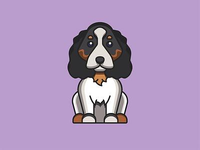 Betty Davis - King Charles cavalier illustrator cute vector animal pet king charles puppy dog