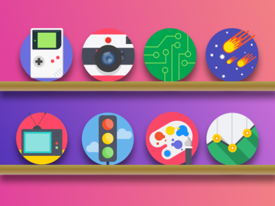 Creaticca  - Round Icons png sketch svg vector paint traffic comets space video games camera iconset icons