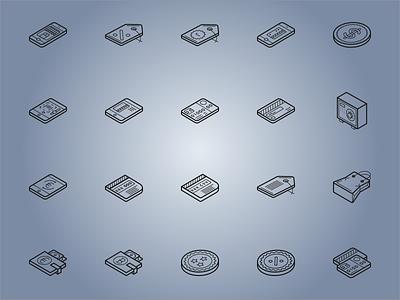 Isometric Ecommerce Icons illustrator icon sets isometric icons 3d